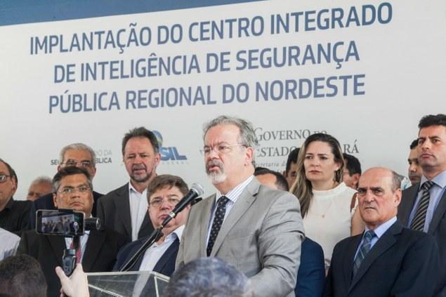 No Ceará, ministro Jungmann inaugura Centro Integrado de Inteligência de Segurança Pública - Regional Nordeste