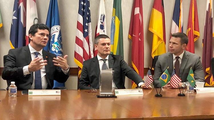 Em missão oficial aos Estados Unidos, Moro intensifica cooperação entre os dois países