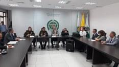 Reunião com comandante da Polícia Metropolitana de Medellín